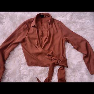 PLT size 2 US cropped shirt